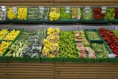 Colmado sano de las verduras imagen de archivo