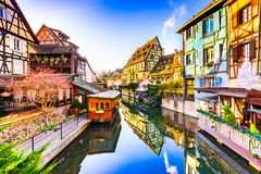 Colmar, Αλσατία, Γαλλία - λίγη Βενετία στοκ φωτογραφία με δικαίωμα ελεύθερης χρήσης
