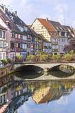 Colmar (Эльзас) - маленькая Venise Стоковое Фото