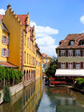 Colmar. Canal in Petite Venice neighborhood of Colmar, France Royalty Free Stock Photography