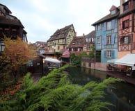 Colmar Alsace Frankrike Arkivfoto