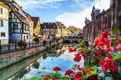 Colmar Alsace, Frankrike Arkivbilder