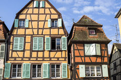 Colmar (Alsace) - Houses Royalty Free Stock Photo