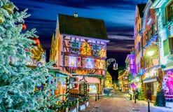 Colmar, Alsace, - Marche De Noel w Francja zdjęcia royalty free