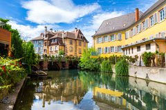 Colmar architecture and flower decoration Royalty Free Stock Photo