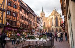 Colmar in christmas stock photography
