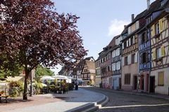 Colmar cityscape. Alsace, France. Colmar is the capital of the Haut-Rhin department in Alsace. It is situated along the Alsatian Wine Route stock photo