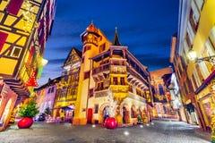 Colmar - ciudad de la Navidad en Alsacia, Francia fotografía de archivo libre de regalías