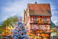 Colmar - ciudad de la Navidad en Alsacia, Francia foto de archivo