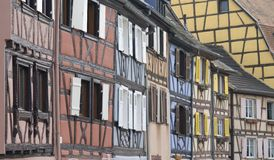 Colmar, France. Architecture typical of Colmar in French Alsace Stock Images