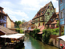 Colmar, France. Canal in Petite Venice neighborhood of Colmar, France Royalty Free Stock Photography