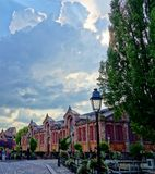 Dramatic Sky in Colmar, Alsace, France royalty free stock image
