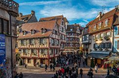 Christmas in Colmar royalty free stock photo