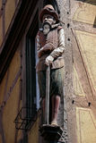 COLMAR, FRANCE/EUROPE -  JULY 19 : Wooden statue of a man in Col Stock Images