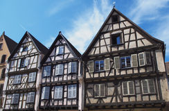 Colmar, France:  half-timbered houses Royalty Free Stock Photography