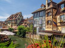 Buildings in the heart of medieval Colmar Royalty Free Stock Image