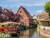 Buildings in the heart of medieval Colmar Stock Photography