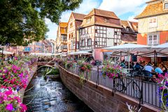 Colmar town in France Stock Photography