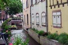 COLMAR, FRANCE - 17 mai 2018 : Petit canal Photos libres de droits