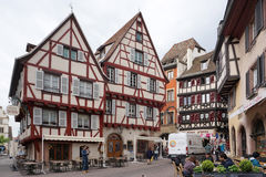 Colmar, France - 3 May,2016 : Beautiful building in old town of Royalty Free Stock Photos