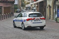 Colmar, France - The municipal Police. COLMAR, FRANCE - OCTOBER 08: The Municipal Police patrols in the historic center of Alsatian city Colmar, France on Stock Photography