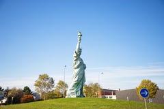 colmar France Październik 14, 2018 Kopia statua wolności, projektująca Frederic Bartholdi obrazy royalty free
