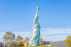 colmar France Październik 14, 2018 Kopia statua wolności, projektująca Frederic Bartholdi zdjęcia stock