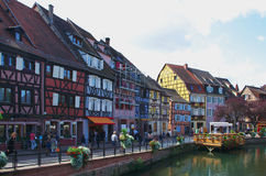 Colmar, France:  the Petit Venice district. Royalty Free Stock Images