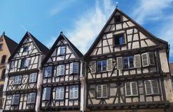 Colmar, Francia: case a graticcio Fotografia Stock Libera da Diritti