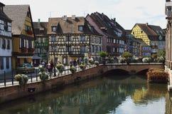 Colmar, Francia: el distrito pequeno de Venecia Imagen de archivo