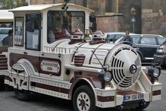 Colmar, Frankreich - touristischer Zug Stockfotografie