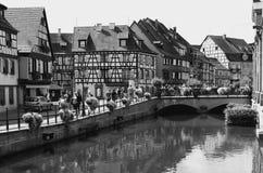 Colmar Frankrike: det Petit Venedig området Royaltyfri Bild