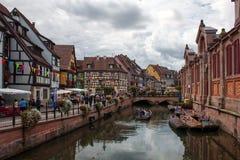 Colmar Frankrike, lilla Venedig Royaltyfri Fotografi