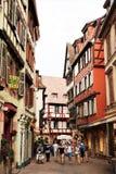 Colmar gammal stad, Frankrike arkivfoto