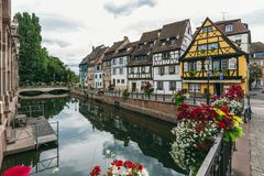 Colmar jest miastem w Uroczystym Est regionie w północno-wschodni Francja Obraz Stock