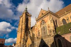 Colmar kerk St Martin Stock Fotografie