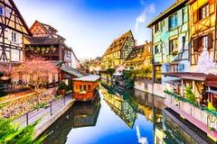 Colmar, l'Alsazia, Francia - poca Venezia fotografia stock libera da diritti
