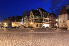 Colmar at night Royalty Free Stock Photography