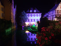 Colmar at night Stock Images