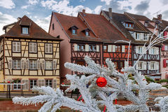 Colmar. Old half-timbered houses. Royalty Free Stock Images