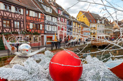 Colmar. Old half-timbered houses. Royalty Free Stock Photo