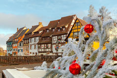 Colmar. Old half-timbered houses. Royalty Free Stock Photos