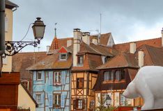 Colmar. Old half-timbered houses. Stock Image