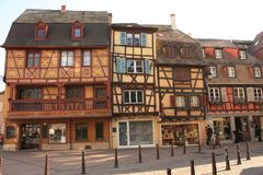 Colmar Oude Stad in de Elzas Frankrijk royalty-vrije stock fotografie