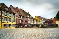 Colmar, Petit Venice, bridge and traditional houses. Alsace, Fra Royalty Free Stock Photography
