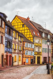 Colmar, Petit Venice, street, lamp and traditional houses. Alsac Royalty Free Stock Photography