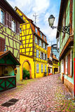 Colmar, Petit Venice, street and traditional houses. Alsace, Fra Stock Photos