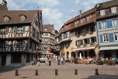 Colmar que visita, Francia Imagenes de archivo