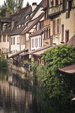 Colmar river , France. Architecture typical of Colmar in French Alsace Royalty Free Stock Photography