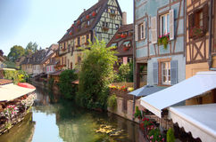 Colmar romantic town in Alsace Royalty Free Stock Image